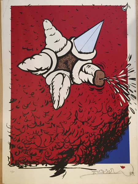 """Untitled, Tomas Esson #309. 1989. Serigraph, edition 52 of 100. 27.5"""" x 20""""."""