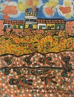 """099 Abel Perez-Mainegra, """"Comandante Fidel Castro,"""" 1998. Acrylic/paper. 14""""x 11"""" #2122"""