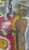 Juan Karlos Echeverria Franco #2298. Untitled, 2000. Mixed media oncanvas. 17.75 x 10.75 inches.