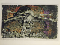 "Juan Carlos Rivero #2385. Serie: ""Narraciones del eterno carnaval VIII."" 2000. Etching print edition 7 of 8."