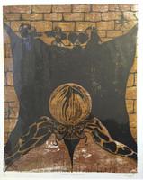 """Joel Aguilera Tamayo  #2452. """"Revouloiv c'est povvoiv,"""" 2000. Serigraph print edition 2 of 12.  26 x 22 inches."""