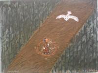 Alazo - Alejandro Lazo #2562. Untitled, 2001. Acrylic on paper 18 x 24 inches.