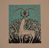 """Alicia Leal #5734.  """"Mi verso es un ciervo herida,"""" 2011. Print edition 49/100."""