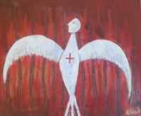 Alazo - Alejandro Lazo #3053. Untitled, N.D. Acrylic on canvas. 22 x 18 inches..