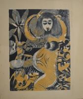 Leonel Lopez-Nussa  #3084. Untitled, 1979. Etching print edition 10 of 14.  9.75 x 11.5 inches.