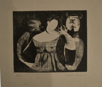 Leonel Lopez-Nussa  #3090. Untitled, 1979. Etching P/A. 10.5 x 12 inches.