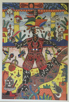 "Vilva (Elio Vilva-Trujillo) #3192. ""eleguea, 2003. Mixed media, ink and wash on cardstock. 14.5 x 10 inches."