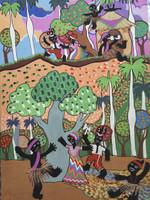Gordillo (Francisco Gordillo Arredondo) #3280 . Untitled, N.D. Acrylic on cardstock. 14 x 10 inches.