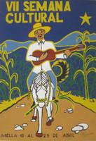 "El Maestro (Luis Rodriguez Arias) #3524A.  ""VII Semana cultural"", 2002. Silk screen,  27.5 x 19.5 Inches"