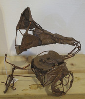 Fidel Reina #6576. Untitled, ND. Copper wire sculputure.10.5 x 7 x 9 inches