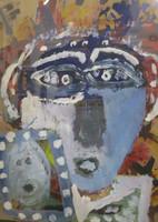 Nicolas Lara #3929. Untitled, 2003. Tempera on paper. 19 x 14 inches.