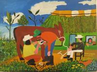"""020 Villalón, """"Hernando el caballito,"""" 1997. Oil on canvas.  12""""x 16"""" #1276"""