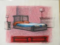 "Villalvilla (Camilo Salvador Díaz de Villalvilla Soto) #5028. From The series: ""En tiempos de guerra,"" 2009. Mixed media on paper. 23.5 x 30 Inches."