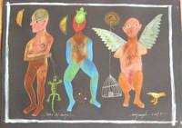 "Montebravo (José Garcia Montebravo)   #5036. ""Color de monte,"" 2009. Pen and ink on paper. 28 x 36 inches."