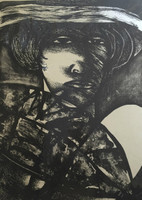 Choco (Eduardo Roca Salazar) #990. Untitled, 1976. Lithograph print edition 14/20.  24.75 x 17.25 Inches.