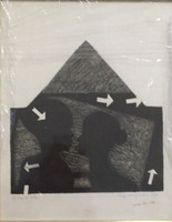 Joyce Vera knight #1101. Untitled, 1995. Lithograph. 12.25 x 9.75 inches.