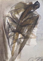 Lescay (Alberto Lescay Merencio) #6319. Untitled, 1996. Watercolor on paper. 13 x 4.5 inches.