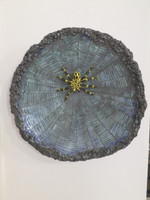 #6663. Untitled, N.D. Glazed ceramic wall plate. 13 inches diameter.