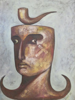 JotaF #6723. Untitled, 2000. Oil on canvas. 15.5 x 11.5 inches