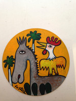 "Untitled by Jose Fuster,#7024. vinyl record, 12"" diameter."