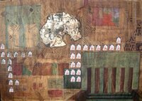 Mabel Poblet #4060. Untitled, N.D. Watercolor and pencil collage. 27 x 39 inches. SOLD!