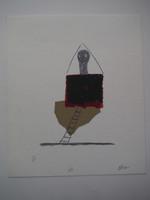 Roberto Diago #5216. Untitled, N.D. Serigraph print. 9.75 x 8.25 Inches.
