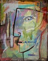 """Antonio Rodriguez Hernandez (RHA) #4646. """"Retazos,"""" 2010. Acrylic on canvas. 20 x 16 inches."""