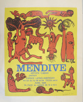 "Mendive (Manuel Mendive) #61 (NFS) ""Mendive: Artiste Cubain,"" 1986. Serigraph print. 40 x 29"