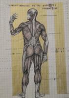"William Perez #3058 (SL) ""Aspecto general de una conciencia proporcional,"" 2001. Ink and collage on paper. 16.5 x 11.5 inches."