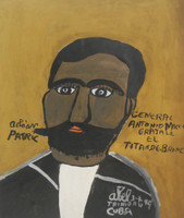 "20 Abel Perez-Mainegra, ""General Antonio Maceo,"" 1999. Acrylic on posterboard. 14.5"" x 12""  #1848"