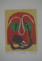 "Nestor Vega #1927. ""Culebra II,"" 1999. Monotype print. 18 x 13.5 inches."