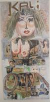 "Nicolas Lara (SL) ""Kali,"" 2004, mixed media oncanvas, 56.5 x 27 Inches."