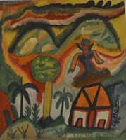 El Monje (Juan Andrés Rodríguez) #5732. Untitled, 1994. Ink on paper, 13.5 x 12.25 inches.