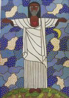 """Zuñiga (Lawrence Zuñiga Batista) #5694. """"El cristo redentor de Rio De Janairo,"""" 2010. Acrylic on paper. 23 x 16.5 inches."""