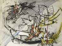 Ivan Arocha #5256B. Untitled, 1996. Colored ink on paper. 20.5 x 24 inches.