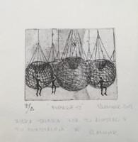 "Vladimir Rodríguez #6393 (SL) NFS>> ""Empaque 52."" 2009. Print on a napkin. Artist proof. 7.5 x 7 inches"