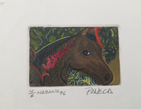 Paneca #6391 (SL) Untitled, 1996. Serigraph print edition 4/6.  5.75 x 6.5 inches.