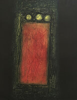 Choco (Eduardo Roca Salazar) #2378. Untitled, 2000. Collagraph print edition 7 of 20.  22 x 15 inches.