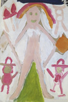 Wayacón (Julián Espinosa) #2523-53. Untitled, 2001. Tempera on paper bag. 8.5 x 11.5 inches.