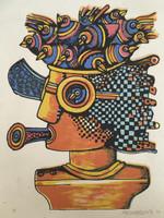 Sosabravo (Alfredo Sosabravo) #2445. Untitled, 1998. Serigraph print edition 20 of 100.