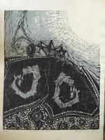 "Jose Vicente Aguilera #2840. ""La muerte de la mariposa,"" 1983. Block print edition 3 of 4."