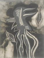"Antonio D'stefano Gallo #2878. ""Sistema de valores,"" 1994. Acrylic on paper. 11.75 x 9.5 inches."