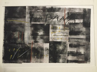 Roberto Mena #3196 (SL) NFS> Untitled, N.D. Lithograph print. 22.5 x 30 inches.