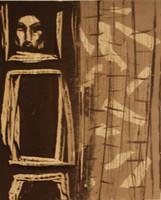 "Càceres (Rafael Angel Càceres Valladares) #3371. ""El muneco,"" 2002. Monotype print."