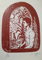 Canet (Antonio Canet Hernández) #3401. Untitled, 2003. Etching print edition 4 of 6.  13.75 x 7.75 inches