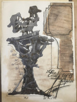 Fermin Fleites #1511. Untitled, N.D. Mixed media on paper. 29 x 20.5 inches.