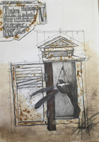 Fermin Fleites #1513. Untitled, N.D. Mixed media on paper. 29 x 20.5 inches.