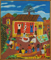 """Llopiz (Angel Llopiz Martinez) #4632. """"Promesa,"""" 2006. Oil on canvas, 16.5  x 14 inches"""