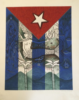 "Alicia Leal #SL. ""Mi Bandera,"" 2012. Print edition 13 of 25."