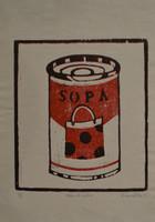 "karina Ortiz Bermudez #5849 (SL). ""Sopa de jabas,"" 2011. print edition  2 of 8. 16.25 x 11.5 inches,"